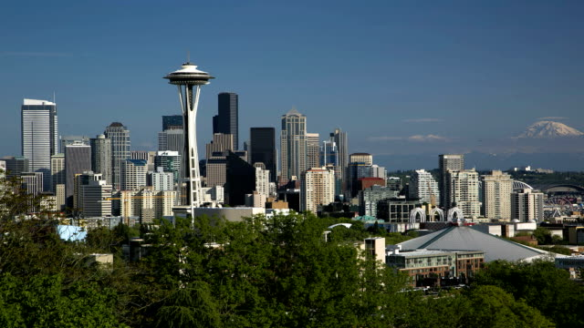 seattle downtown - space needle stock videos & royalty-free footage