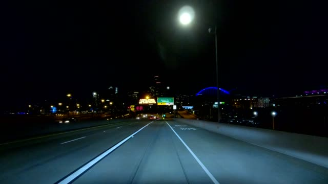 seattle highway vi synced series front view driving process plate - pacific northwest usa stock videos & royalty-free footage