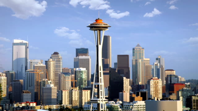 skyline von seattle - seattle stock-videos und b-roll-filmmaterial
