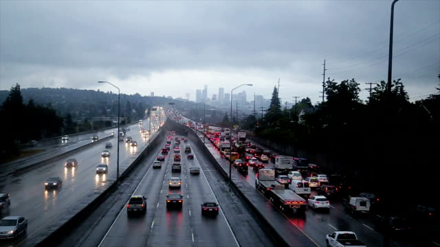 seattle verkehr - seattle stock-videos und b-roll-filmmaterial