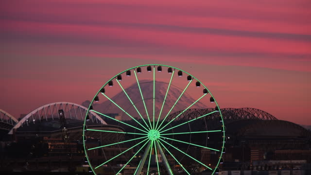 seattle - ferris wheel stock videos & royalty-free footage