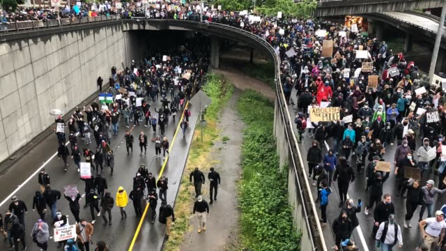 seattle - protestor stock videos & royalty-free footage