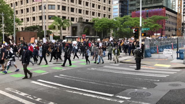 seattle - demonstration stock videos & royalty-free footage