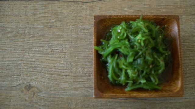 Seetang Salat-japanischer Stil