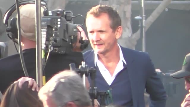 Sebastian Roche attends the Rampage premiere at Microsoft Theater in Los Angeles in Celebrity Sightings in Los Angeles