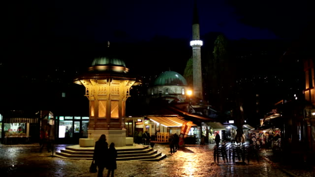 sebilj square, sarajevo, bosnia - mosque stock videos & royalty-free footage