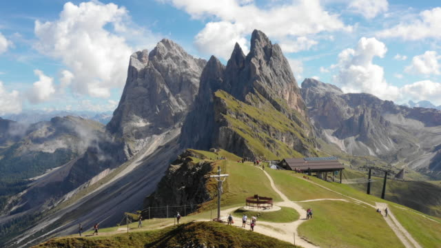 seceda mountain, dolomites - reversing stock videos & royalty-free footage
