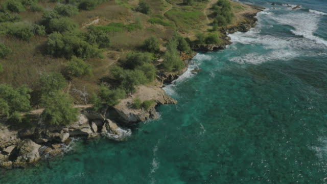 Secluded Private tropical beach, Aerial View