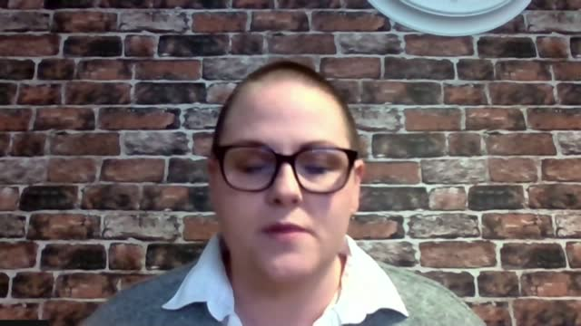 second anniversary of the shooting of journalist lyra mckee: sara canning interview; northern ireland: int sara canning interview via internet sot... - crime and murder stock-videos und b-roll-filmmaterial