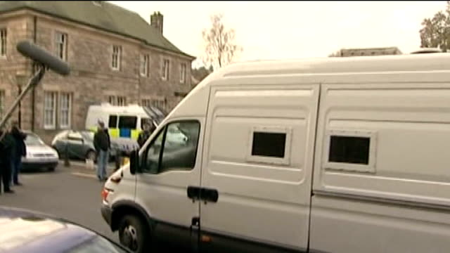 second body found in margate back garden linlithgow police van arrives at court - linlithgow stock videos and b-roll footage