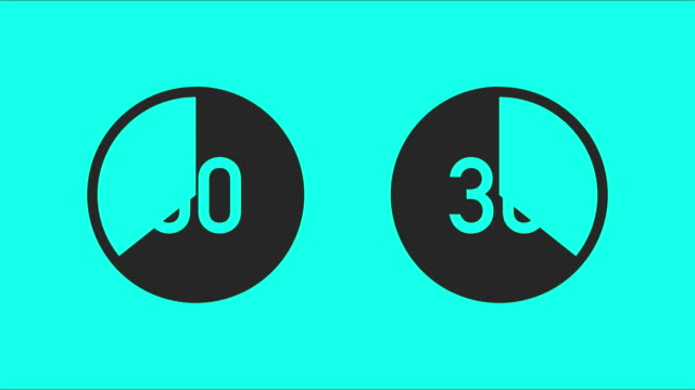 30 second circle counting - vector animate - timer stock videos & royalty-free footage