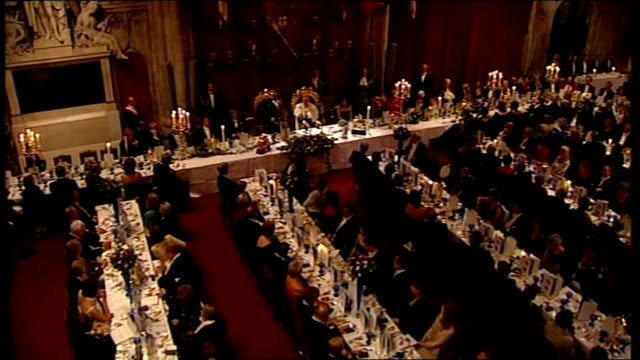 second day of state visit by nicolas sarkozy and his wife carla bruni: state banquet at guildhall / sarkozy speech; nicolas sarkozy speech sot - it... - president of france stock videos & royalty-free footage
