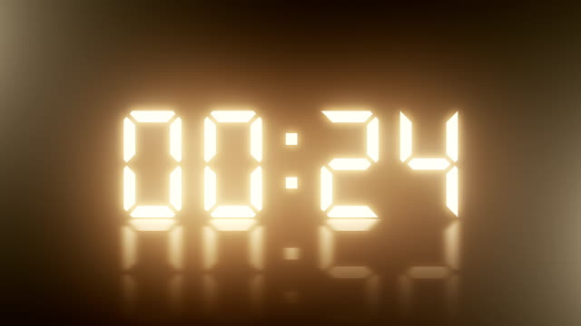 stockvideo's en b-roll-footage met 24 seconden digitale countdown display - countdown