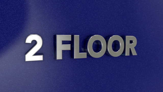 second floor 3d sign - flooring stock videos & royalty-free footage