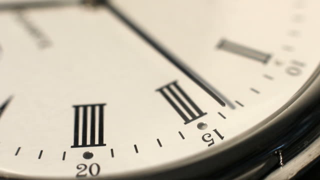 second hand that runs on a clock face - roman numeral stock videos & royalty-free footage