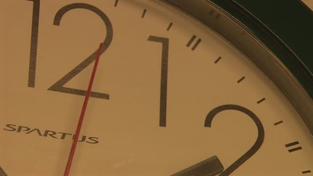 second hand ticking on clock on december 18 2013 in new york new york - clock face stock videos & royalty-free footage