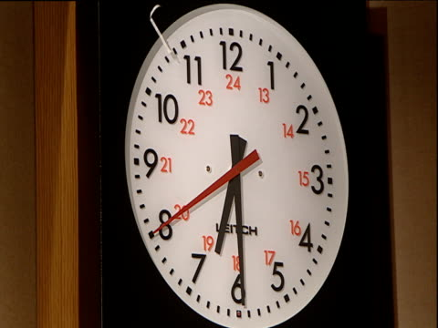 second hand ticking on modern clock - second hand stock videos and b-roll footage