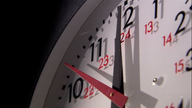 a second hand ticks across a clock face. - second hand stock videos & royalty-free footage