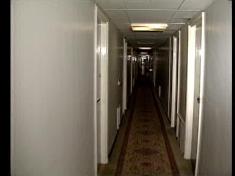 second inquest into death of roberto calvi returns an open verdict tracking shot along corridor - roberto calvi stock videos and b-roll footage