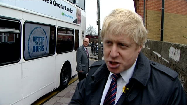 stockvideo's en b-roll-footage met second rail union rejects offer of additional 850 pounds for working over the olympics england london ext boris johnson interview sot i think the... - mogelijk