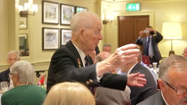 Second World War veterans Jeffrey Hayward and George Parsons turn 100 ENGLAND London Lambeth Union Jack Club INT Jeffrey Hayward interview SOT...