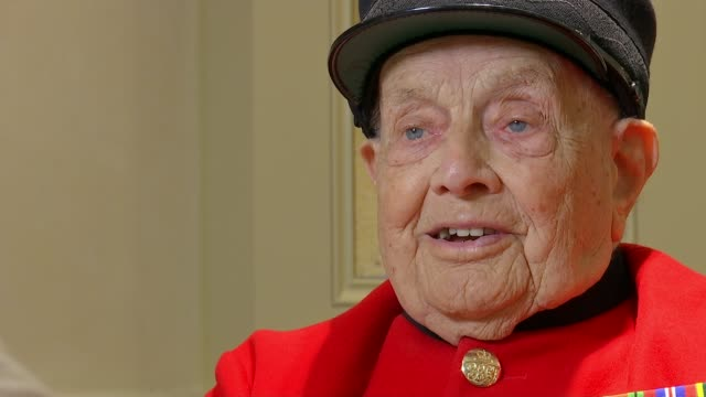 Second World War veterans Jeffrey Hayward and George Parsons turn 100 Lambeth London UK Jeffrey Hayward interview George Parsons interview Hayward...