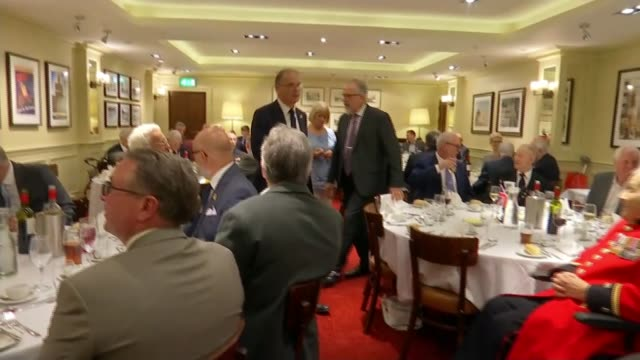 Second World War veterans Jeffrey Hayward and George Parsons turn 100 ENGLAND London Lambeth Union Jack Club INT George Parsons and Jeffrey Hayward...