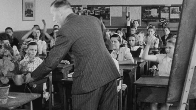 MONTAGE Secondary school students receiving instruction in various classroom studies / Yorkshire, United Kingdom