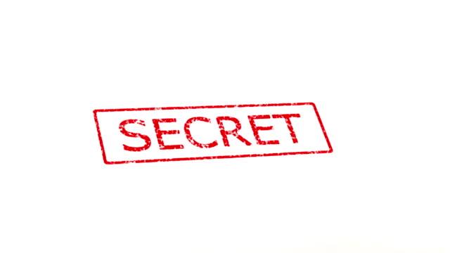 Secret and TopSecret stamp
