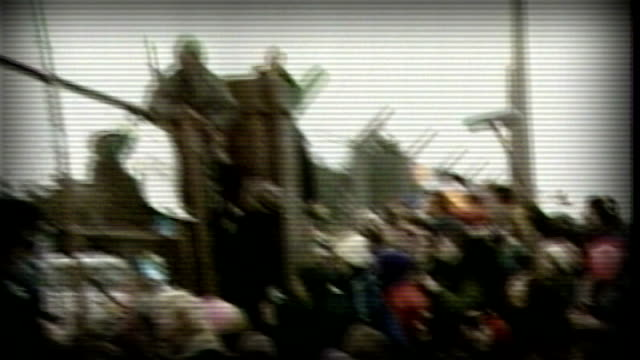 secret government files from 1983 released by the national archives as131282005 / berkshire greenham common ext protesters at gates police officers... - dragging stock videos & royalty-free footage