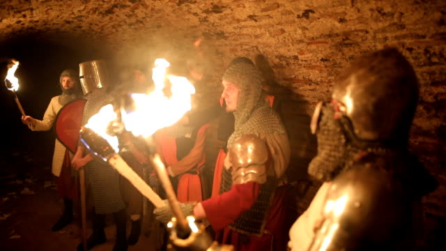 secret knights templar tunnels - knight person stock videos and b-roll footage