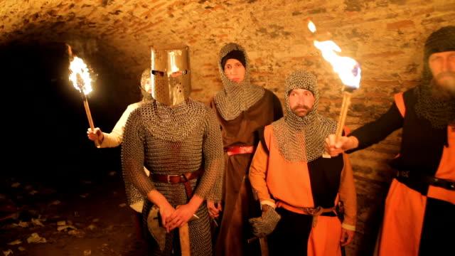 secret knights templar tunnels - sword stock videos & royalty-free footage