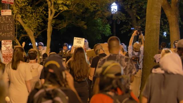 secret service sprays tear gas to disburse protesters. - tear gas stock videos & royalty-free footage