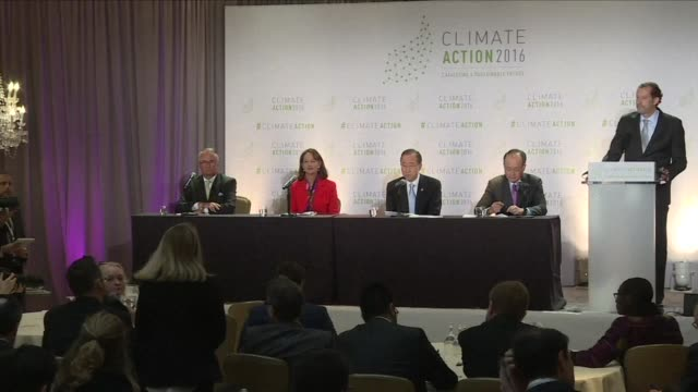 secretary general ban ki moon and french environment minister segolene royal opened climate action day in washington dc on thursday calling for... - paris agreement stock videos & royalty-free footage