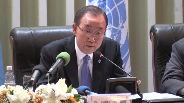 secretary general ban ki-moon on wednesday met with political representatives in the democratic republic of congo, calling on them to work towards a... - democratic republic of the congo stock videos & royalty-free footage
