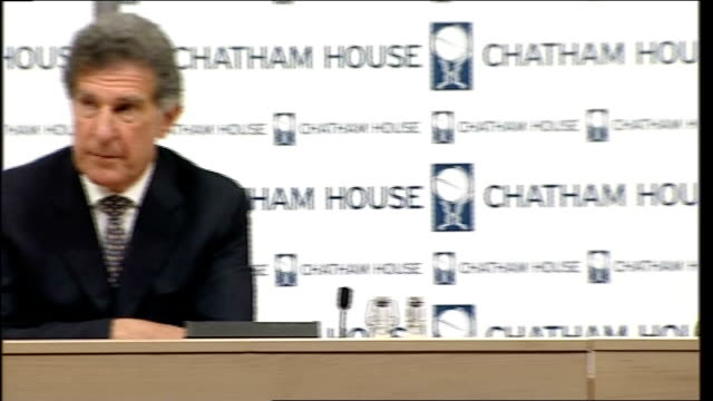 secretary general chatham house speech; england: london: chatham house: int kevin tebbett former first secretary in nato introduces jaap de hoop... - secretary general stock videos & royalty-free footage