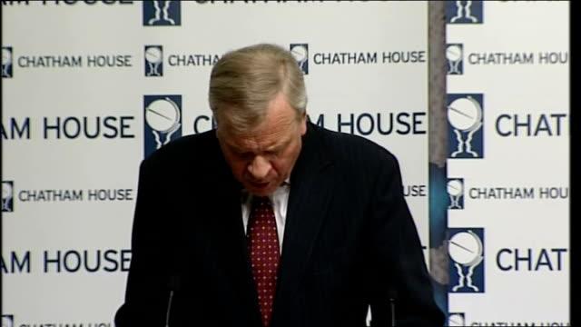 secretary general chatham house speech; jaap de hoop scheffer speech continued sot - secretary general stock videos & royalty-free footage