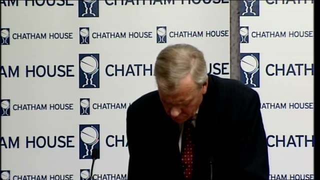 secretary general chatham house speech; q&a session continued sot - secretary general stock videos & royalty-free footage
