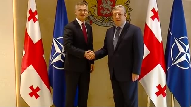 Secretary General Jens Stoltenberg meets with Georgian Prime Minister Giorgi Kvirikashvili within the NATOGeorgia Commission meeting in Tbilisi...