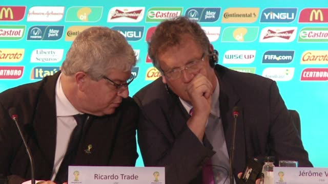 FIFA secretary general Jerome Valcke said work on the Sao Paulo stadium which will host the opening match of the World Cup remains a concern CLEAN...