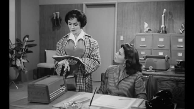 1959 Secretary is struck by the change in her boss's (Susan Cabot) appearance