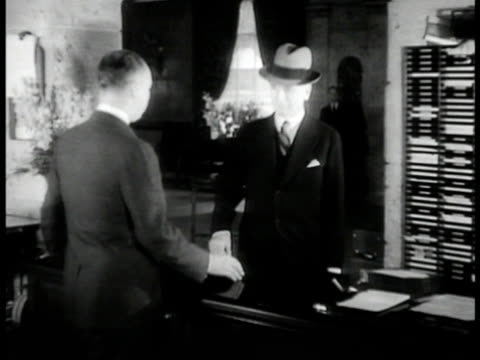 secretary of state cordell hull at front desk of carlton hotel - cordell hull stock videos and b-roll footage