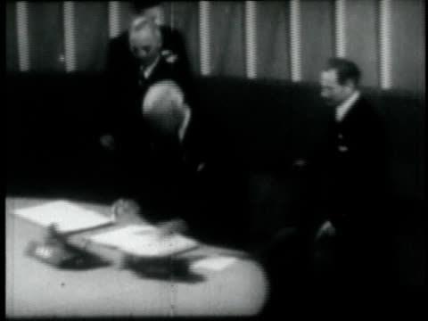 secretary of state cordell hull signing the united nations charter / washington dc united states - cordell hull stock videos and b-roll footage