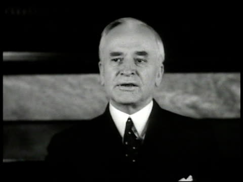 secretary of state cordell hull speaking 'the president at the same time issued official statementengage in transactions of any characterat their own... - cordell hull stock videos and b-roll footage