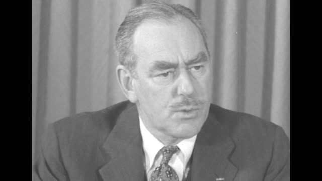 """vidéos et rushes de secretary of state dean acheson comments on communist chinese aggression in korea as being part of the """"international communist movement""""; boldness... - agression"""
