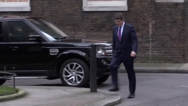 Secretary of State for Business Energy and Industrial Strategy Greg Clark arrives at Downing Street as the cabinet reshuffle continues