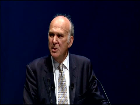Secretary of State for Business Innovation and Skills Vince Cable speaks at Liberal Democrat conference