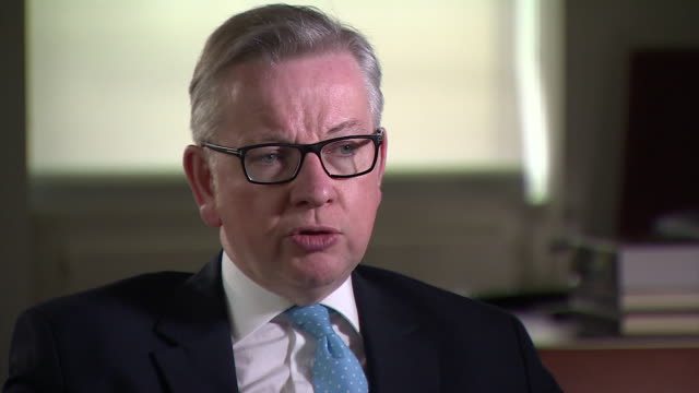 secretary of state for justice michael gove saying that some prisons are not doing a good enough job of providing education or employment... - prison education stock videos & royalty-free footage