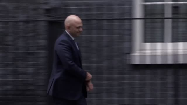 Secretary of State for Local Communities and Government Sajid Javid leaves Downing Street as the cabinet reshuffle continues