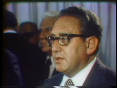 secretary of state henry kissinger comments on his meeting with the peruvian foreign minister. - peruvian ethnicity stock videos & royalty-free footage
